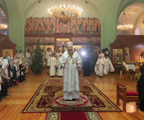Архиерейская литургия в соборе